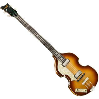 Hofner Vintage 62 Left Handed Violin Bass, Sunburst