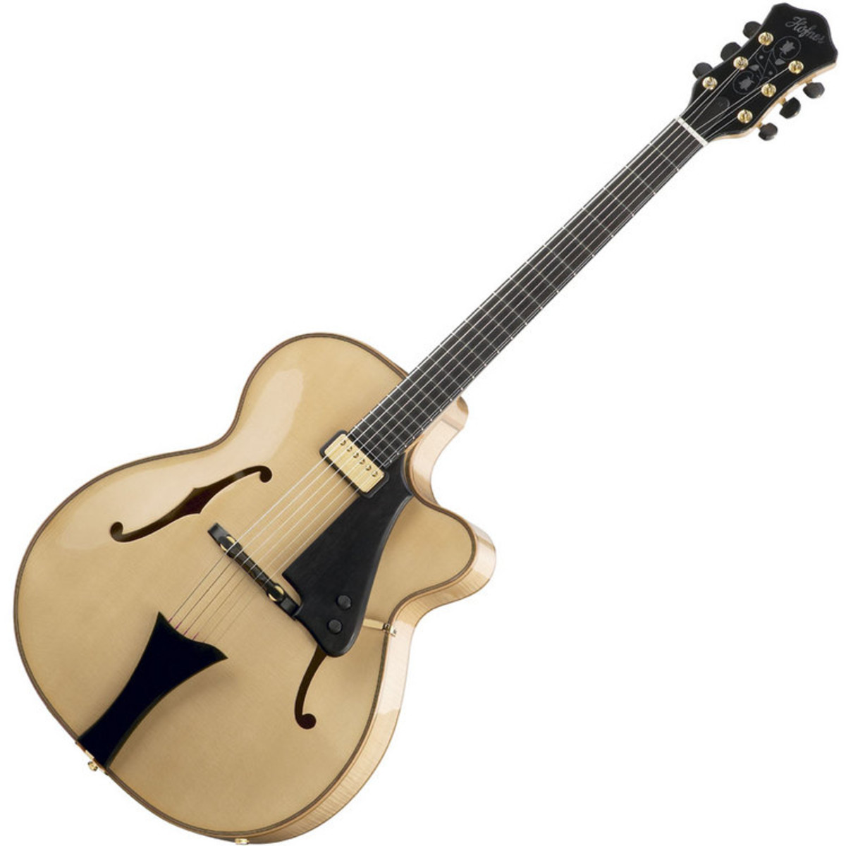 disc hofner chancellor archtop jazz electric guitar natural at gear4music. Black Bedroom Furniture Sets. Home Design Ideas