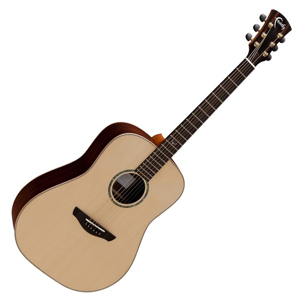 Faith Saturn Dreadnought Acoustic, Hi Gloss Natural Front View