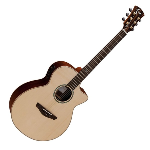 Faith Venus Cutaway Electro Acoustic, Hi Gloss Natural Front View