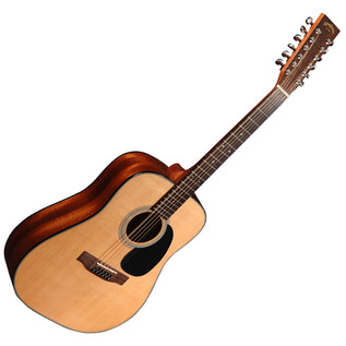Sigma DM12-1ST 1 Series Acoustic 12 String Guitar, Natural