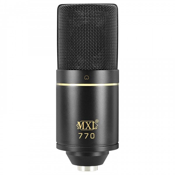 MXL 770 Condenser Microphone with FET Preamp, Bass Cut & -10dB Pad - Front