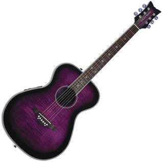 Daisy Rock Pixie Electro Acoustic Guitar, Plum Purple Burst