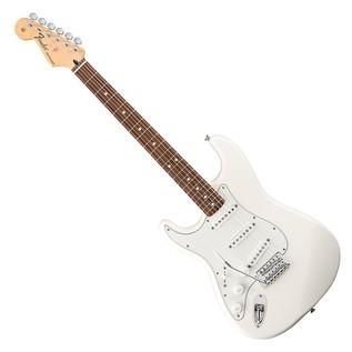 Fender Standard Stratocaster Left Handed Guitar, Arctic White