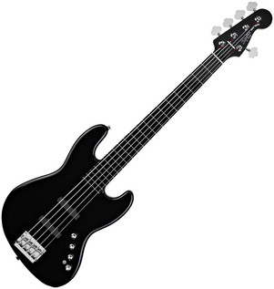 Squier by Fender Deluxe Jazz Bass V Active (5-String), Black