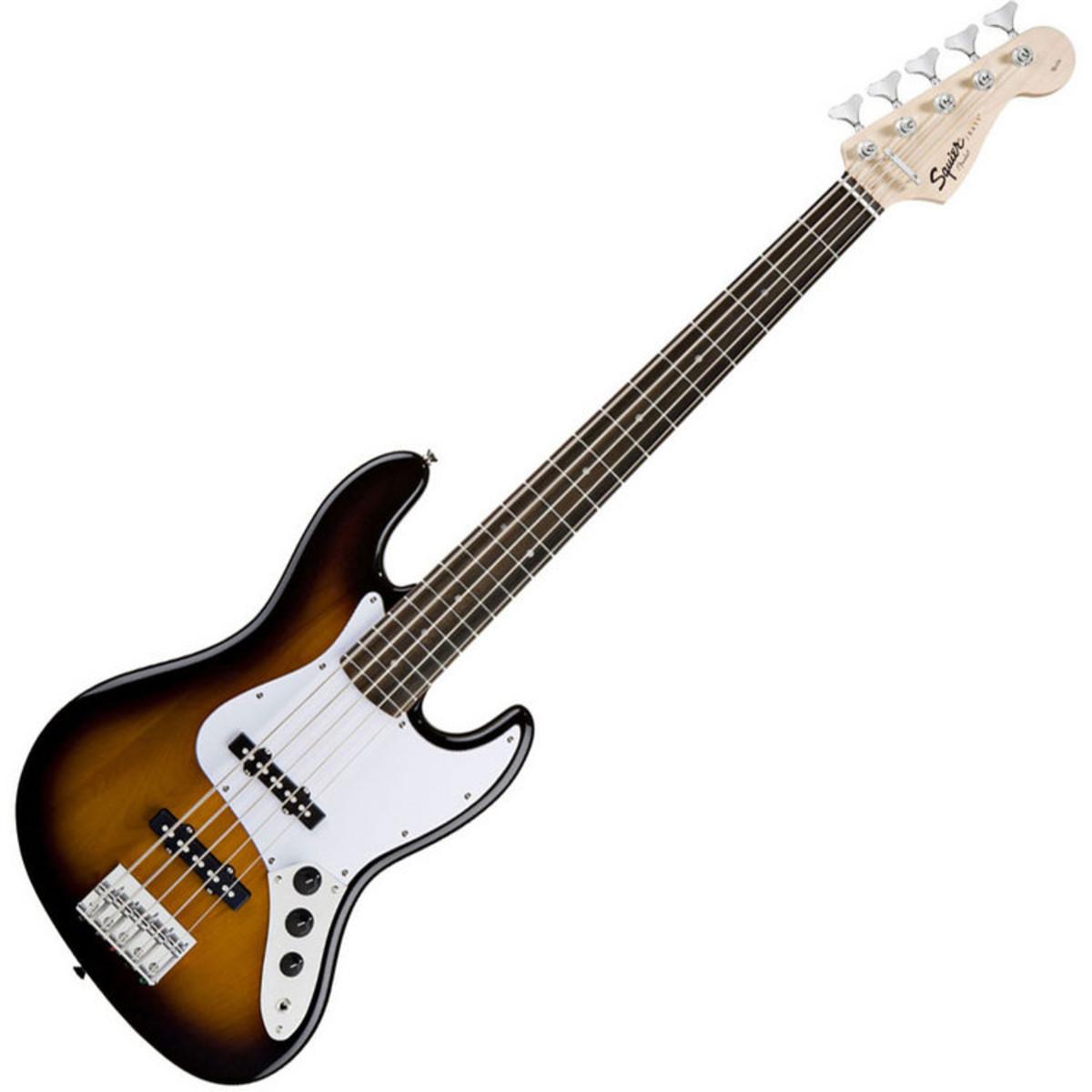squier by fender affinity jazz bass v 5 string sunburst at gear4music. Black Bedroom Furniture Sets. Home Design Ideas