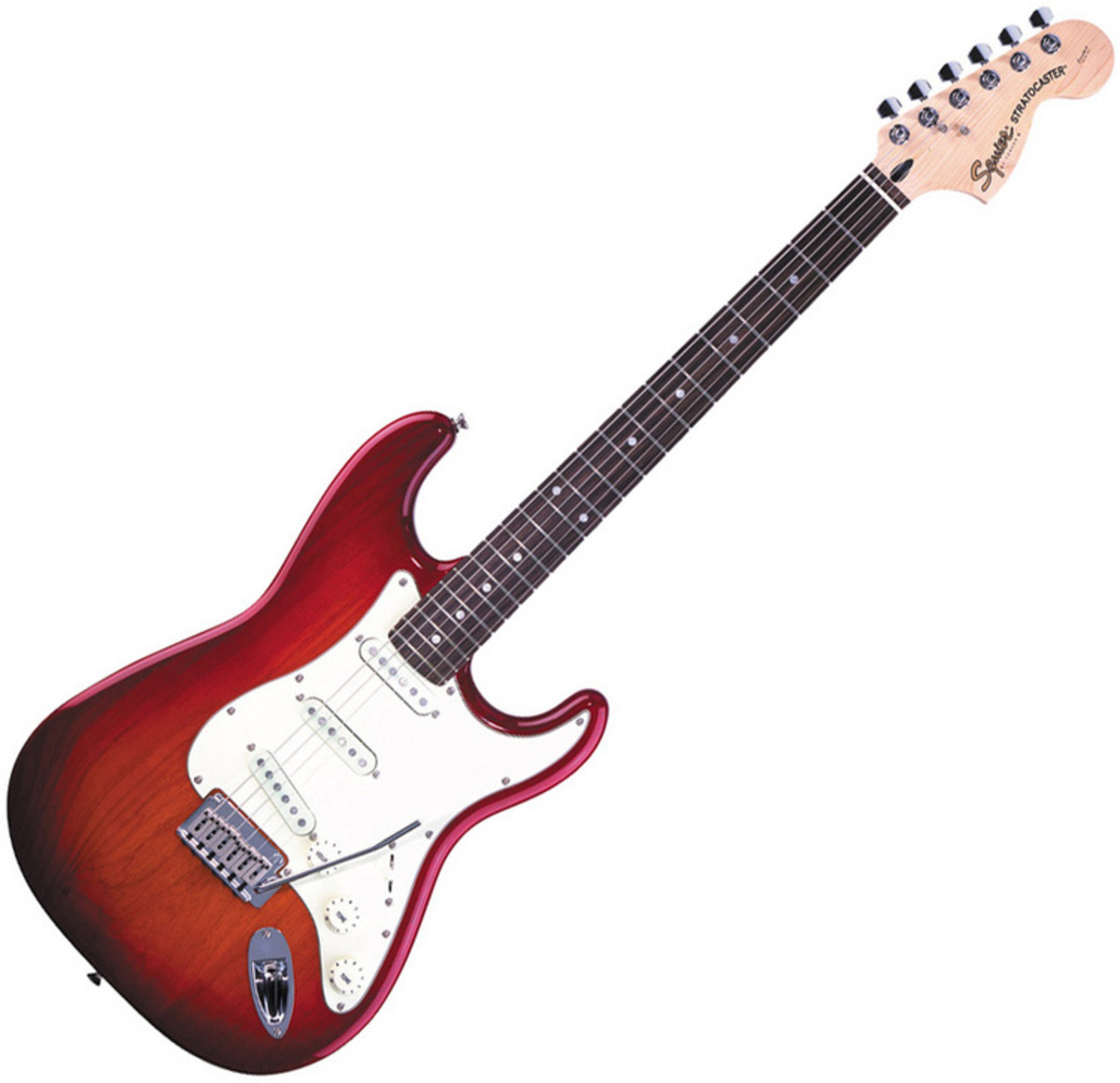 squier by fender standard stratocaster guitar cherry sunburst at gear4music. Black Bedroom Furniture Sets. Home Design Ideas
