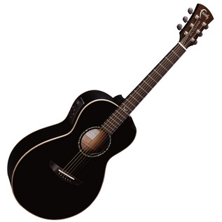 Faith Eclipse Mercury Scoop Electro-Acoustic Guitar, Black Gloss