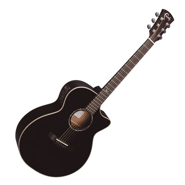Faith Eclipse Venus Cutaway Electro Acoustic, Black Front View