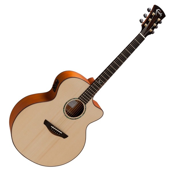 Faith Jupiter Jumbo Cutaway Electro Acoustic Front View