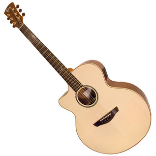 Faith Jupiter Jumbo Cutaway L/H Electro Acoustic Guitar, Hi Gloss