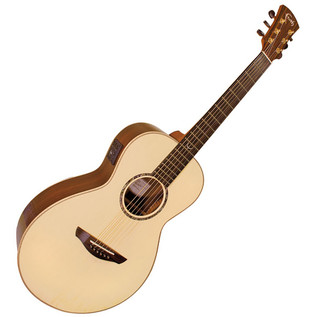 Faith Mercury Parlour Electro Acoustic Guitar, Hi Gloss Natural