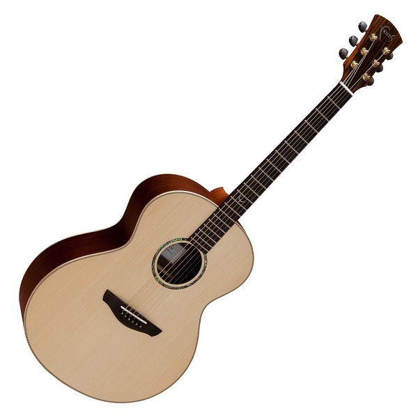 Faith Neptune Baby Jumbo Acoustic, Hi Gloss Natural Front View