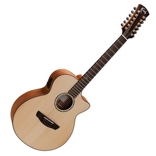 Faith Trembesi 12-String Cutaway Electro Acoustic, Natural Front View
