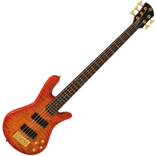 Spector Bass Legend 5 Custom Bass Guitar, Amber