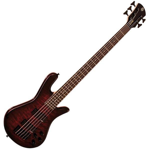 Spector Bass Legend 5 Classic Bass Guitar, Black Cherry
