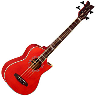 Ortega D-Walker Extra Short Scale Acoustic Bass Red