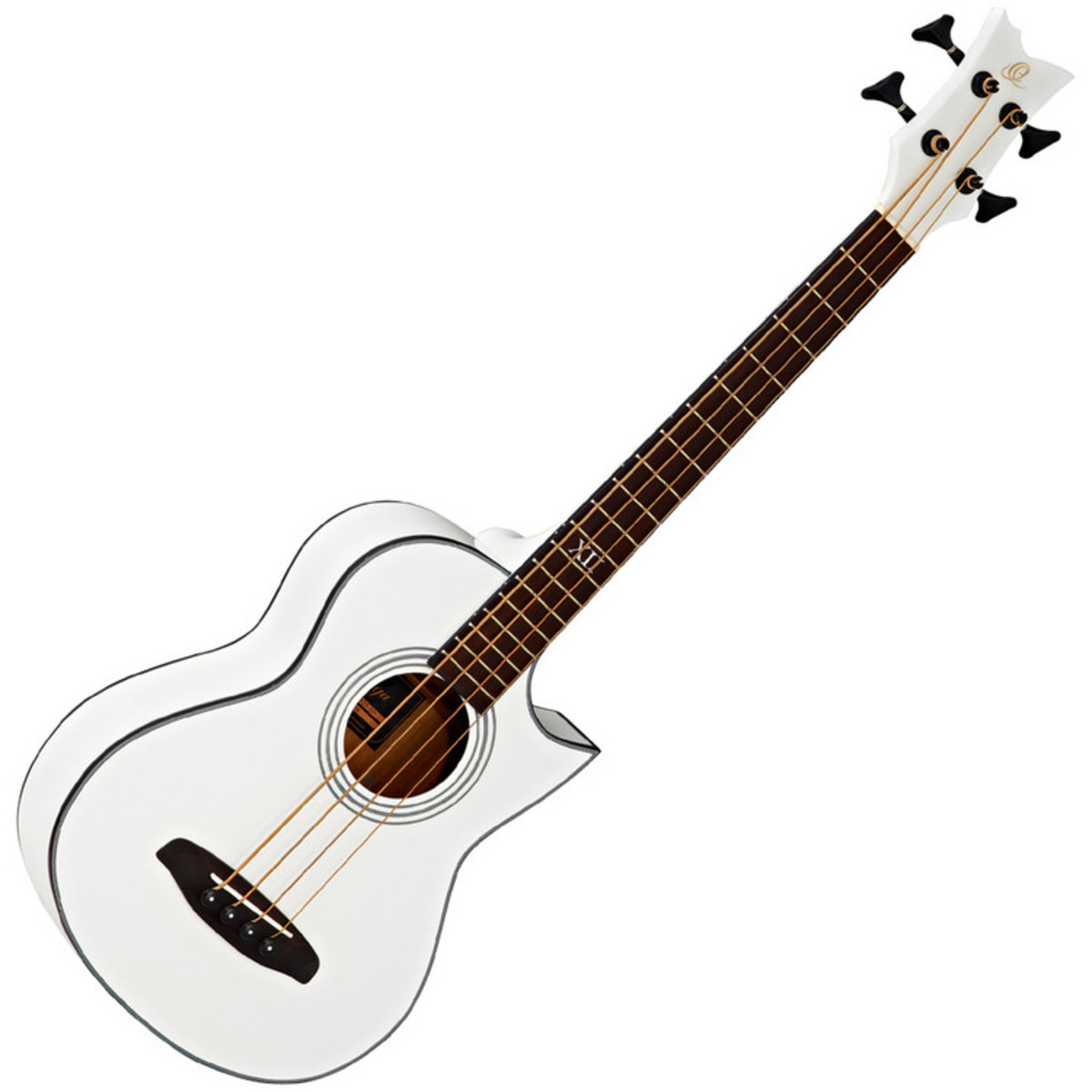 ortega d walker extra short scale electro acoustic bass white at gear4music. Black Bedroom Furniture Sets. Home Design Ideas