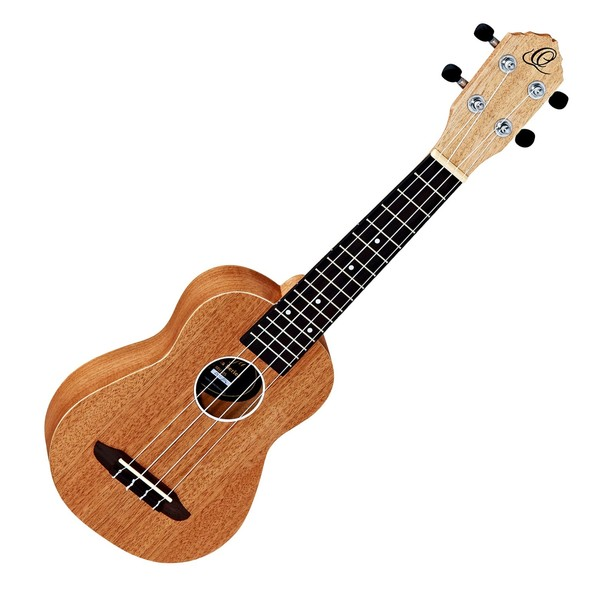 Ortega Friends Series Soprano Ukulele, Natural Matte - Front View