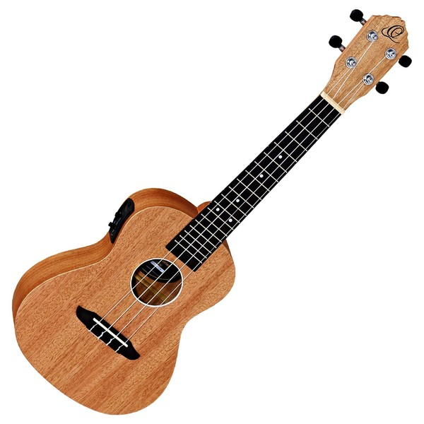 Ortega Friends Series Concert Ukulele, Active Preamp/Tuner - Front View