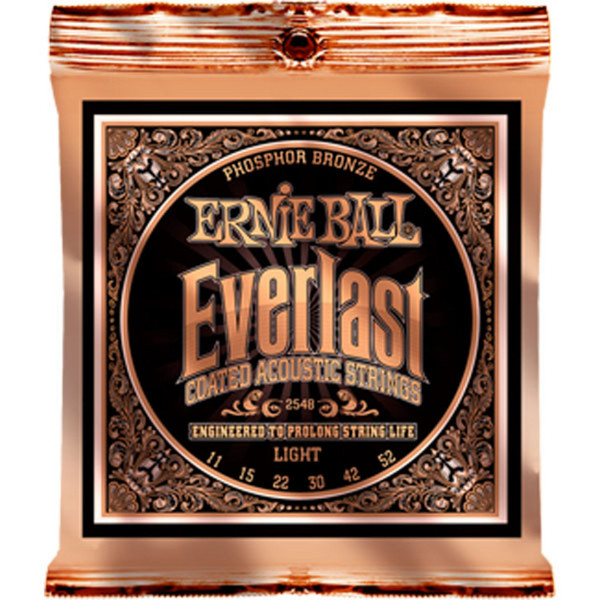 Ernie Ball Everlast 2548 Phosphor Acoustic Guitar Strings 11-52