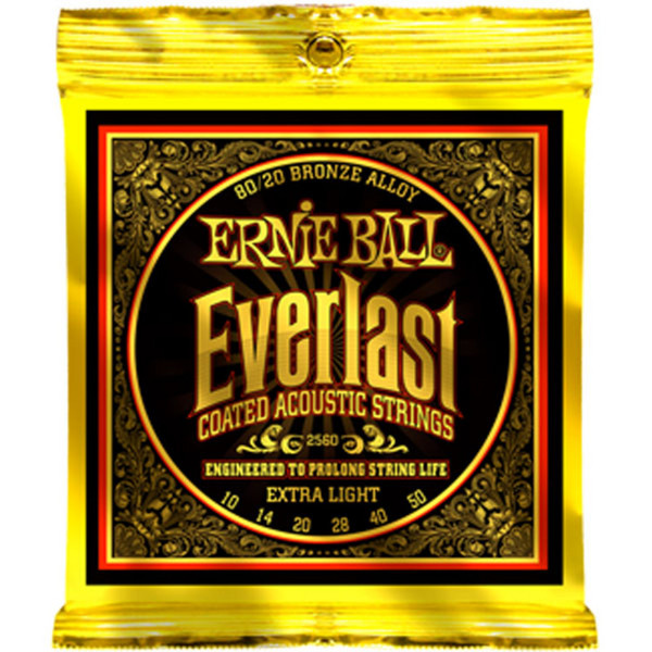 Ernie Ball Everlast 2560 80/20 Bronze Acoustic Guitar Strings 10-50