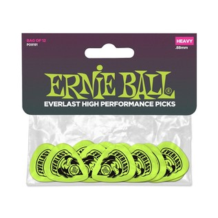 Ernie Ball 9191 Everlast Picks 12 Pack Heavy .88mm Green