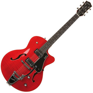 Godin 5th Avenue Uptown GT Archtop Acoustic Guitar, Flame Red GT