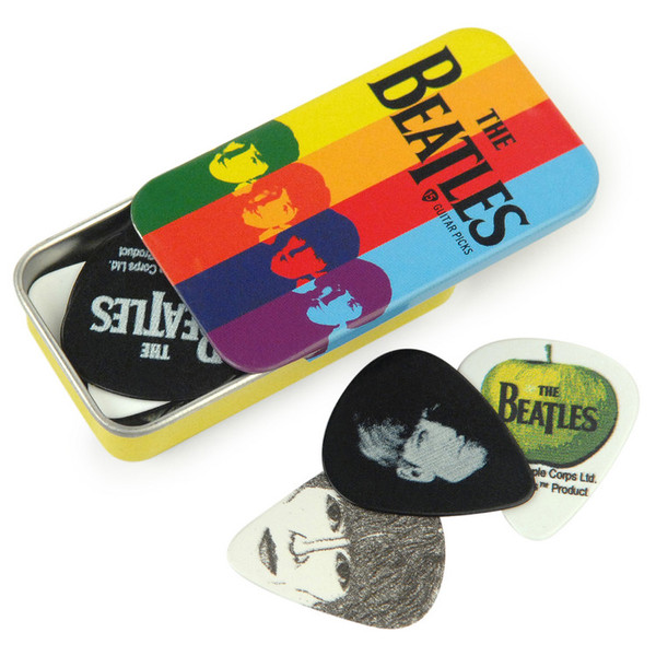 D'Addario Beatles Signature Guitar Pick Tins, Stripes