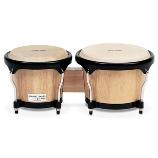 "Gon Bops Fiesta Bongo 7"" & 8.5"", Natural with Black Hardware"