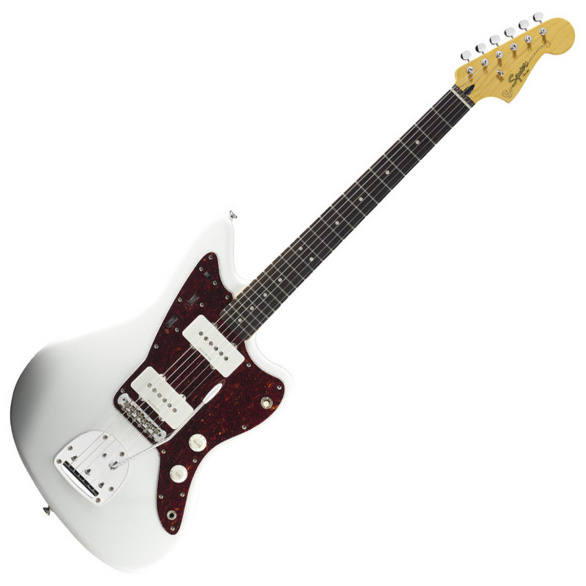 squier by fender vintage modified jazzmaster guitar olympic white at. Black Bedroom Furniture Sets. Home Design Ideas