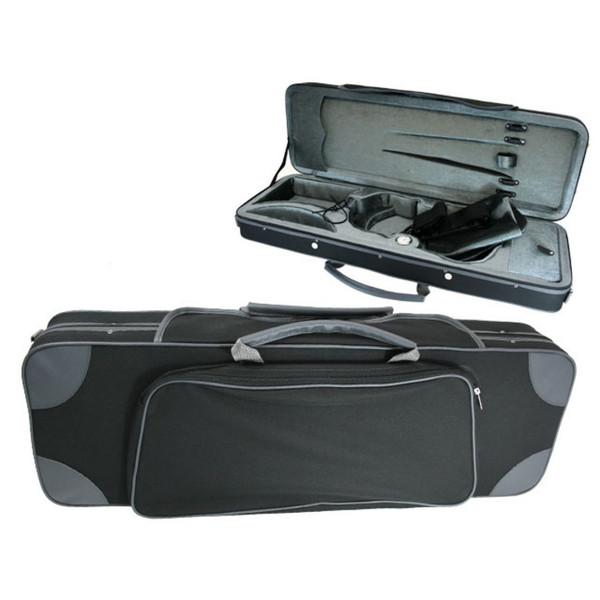 GSJ Styro Oblong Violin Case 4/4 Black/Grey