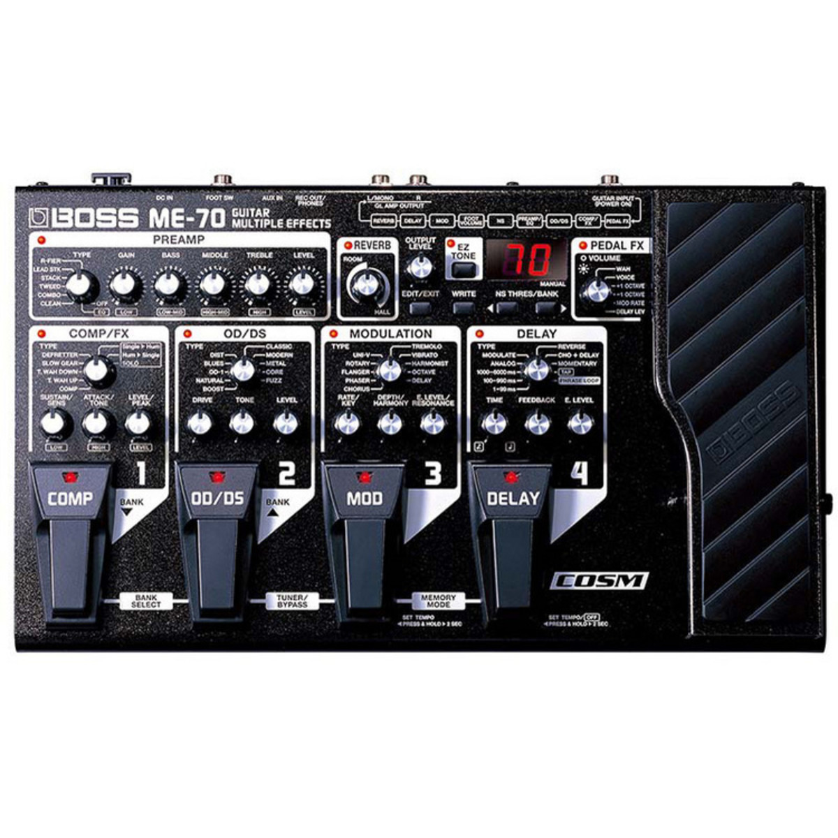 boss me 70 guitar effects processor nearly new at gear4music. Black Bedroom Furniture Sets. Home Design Ideas