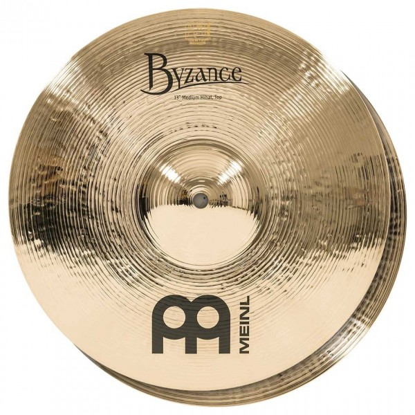 Meinl B13MH-B Byzance 13 inch Brilliant Medium Hi-hats