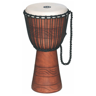 "Meinl ADJ2-M+BAG 10"" Original African Rope Tuned Wood Djembe - Brown"