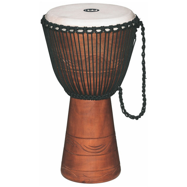 "Meinl ADJ2-XL+BAG 13"" Original African Rope Tuned Wood Djembe, Brown"