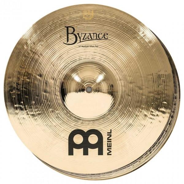 Meinl B14MH-B Byzance 14 inch Brilliant Medium Hi-hats
