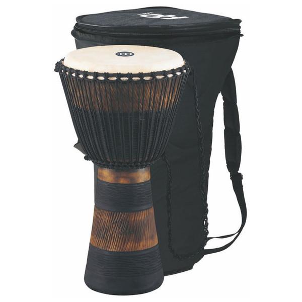 """Meinl 13"""" Original African Rope Tuned Wood Djembe, Brn/Blk"""
