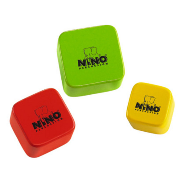 Meinl NINO507-MC Wood Shaker Assortment, Multi Colour