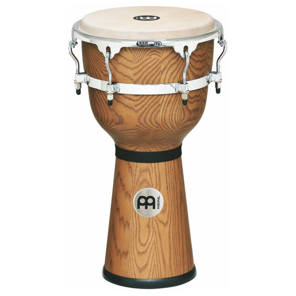 "Meinl 12"" Floatune Series Woodcraft Djembe - Zebra Finished Ash"