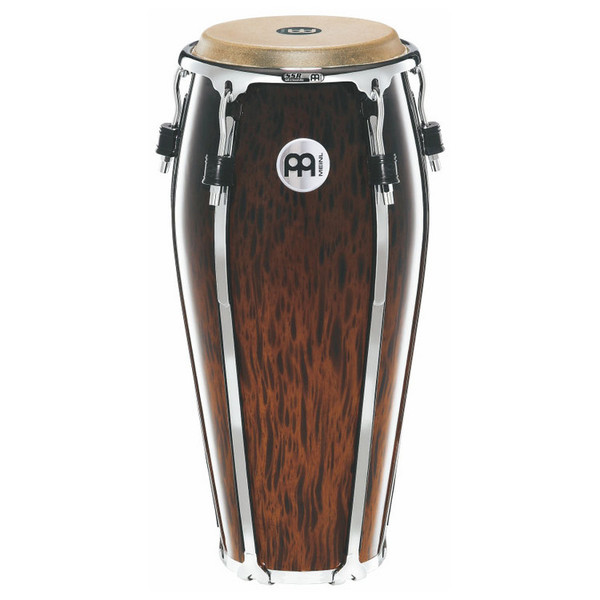 "Meinl 10"" Floatune Series Wood Conga - Brown Burl Finish"