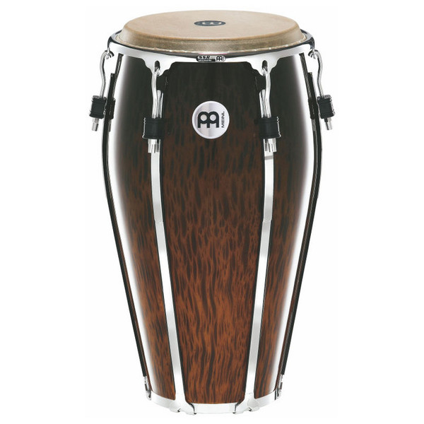 "Meinl 13"" Floatune Series Wood Conga - Brown Burl Finish"