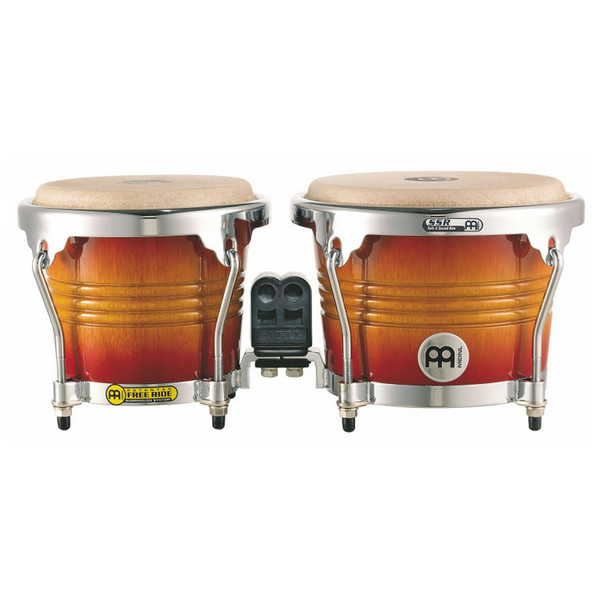 Meinl Free Ride Series Wood Bongo - Aztec Red Fade