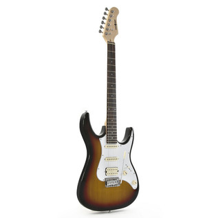 Black Knight CST-20 Electric Guitar, Sunburst + 15W Amp Pack