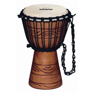Meinl NINO-ADJ2-S African Rope Tuned Wood Djembe, Water Rhythm