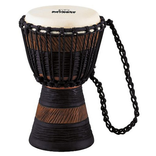 Meinl NINO-ADJ3-S African Rope Tuned Wood Djembe, Earth Rhythm