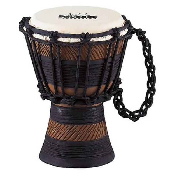 Meinl NINO-ADJ2-S African Style Rope Tuned Wood Djembe, Earth Rhythm