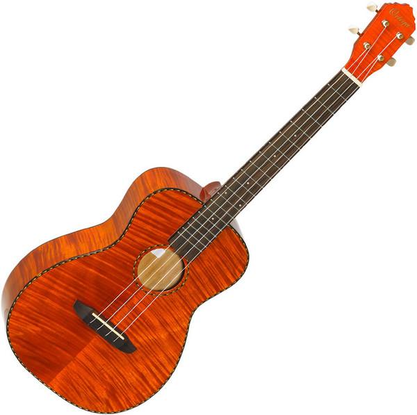 Ortega RUE14FMH Electro-Acoustic Baritone Ukulele, Flamed Mahogany