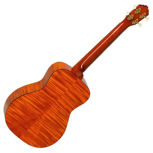 Ortega RUE14FMH Electro-Acoustic Baritone Ukulele, Flamed Mahogany - back