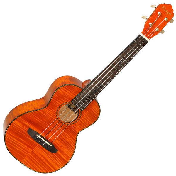 Ortega RUE12FMH Electro-Acoustic Tenor Ukulele, Flamed Mahogany